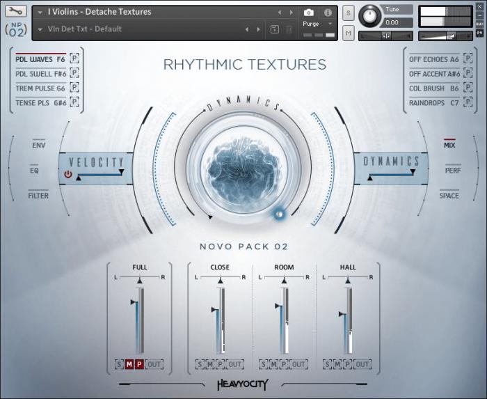 Heavyocity NOVO Pack 2 Rhythmic Textures GUI