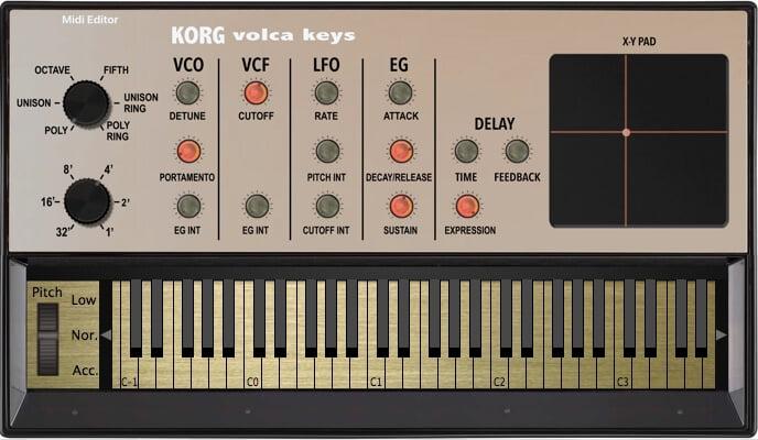 Momo Korg Volca Keys MIDI Editor