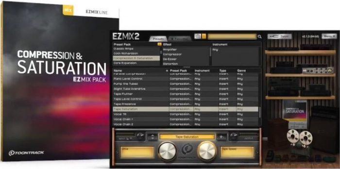 Toontrack Compression & Saturation EZmix Pack