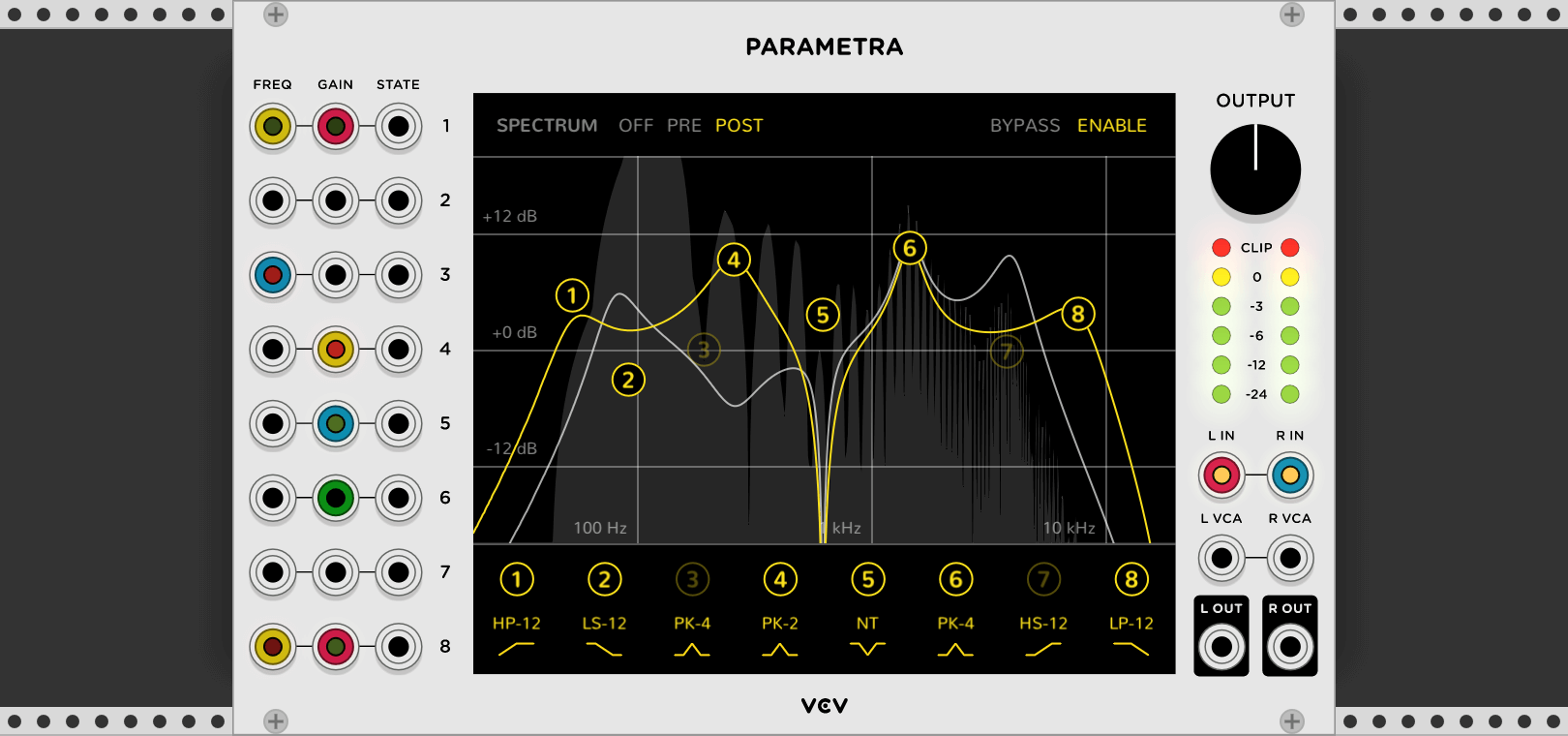 vcv releases parametra parametric eq for vcv rack