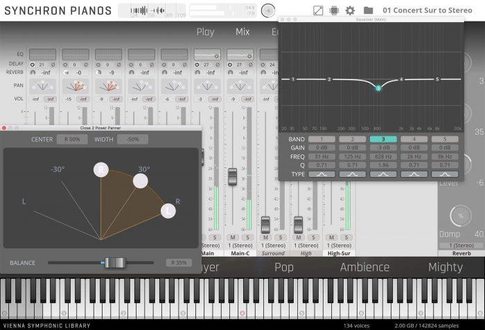 VSL Synchron Yamaha CFX Mixer