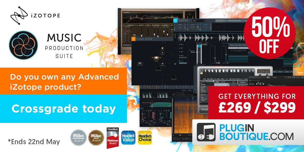 iZotope Music Production Suite Upgrade PluginBoutique