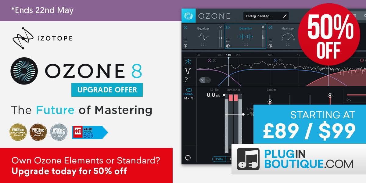 iZotope Ozone8Upgrade50 PluginBoutique