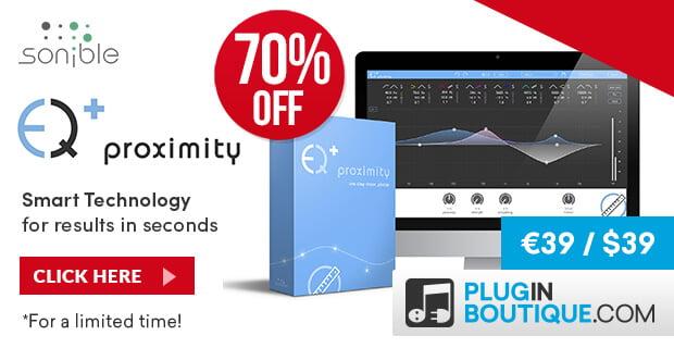 sonible ProximityEQ sale 70 off
