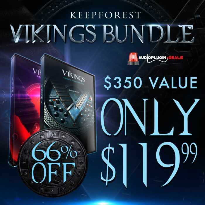 Audio Plugin Deals KeepForest Vikings Bundle 43% OFF
