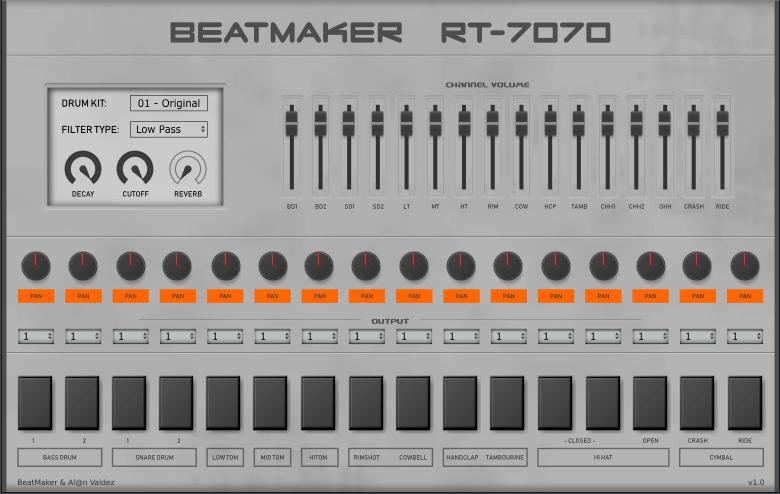 beatmaker releases free tr 707 inspired drum plugin vst au. Black Bedroom Furniture Sets. Home Design Ideas