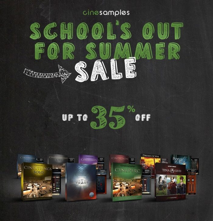 Cinesamples Schools Out For Summer Sale