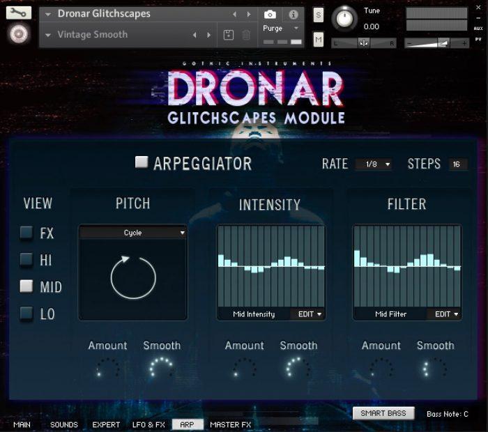 DRONAR Glitchscapes Arp page