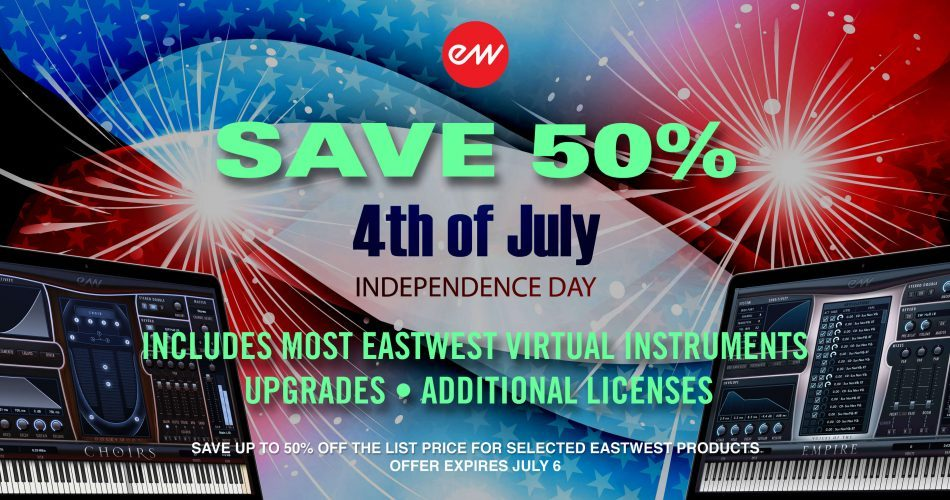 EastWest 4th of July Sale 2018