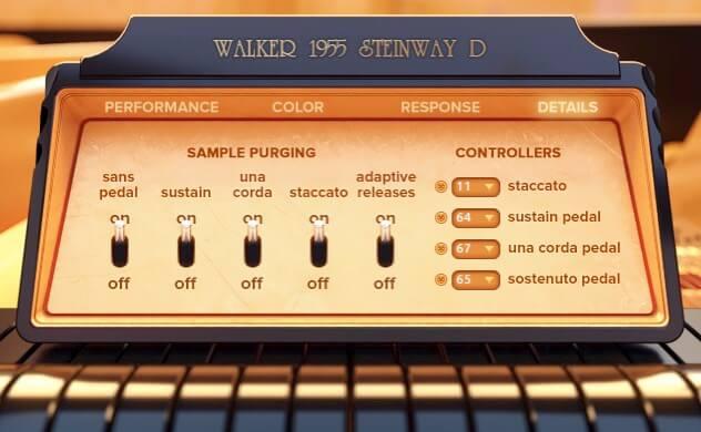 Embertone Walker 1955 Steinway D details