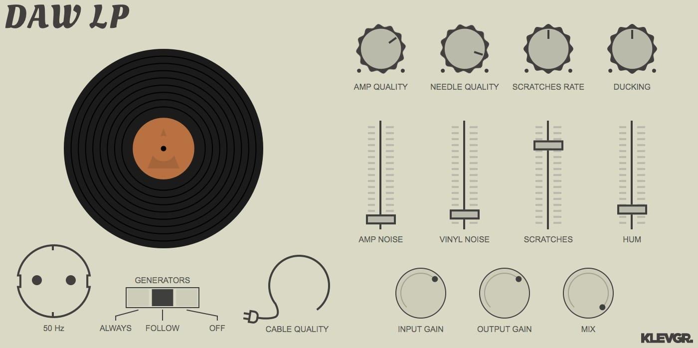 Klevgrand releases Daw LP - Vinyl Player Simulation! - Gearslutz