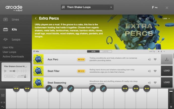 Output Arcade Browser Extra Percs Line