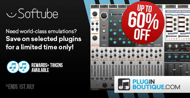 Softube sale up to 60 off