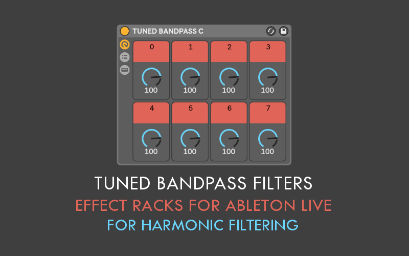 Sound Author Tuned Bandpass Filters for Ableton Live