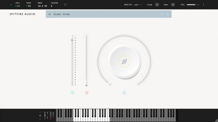 Spitfire Labs Drums GUI