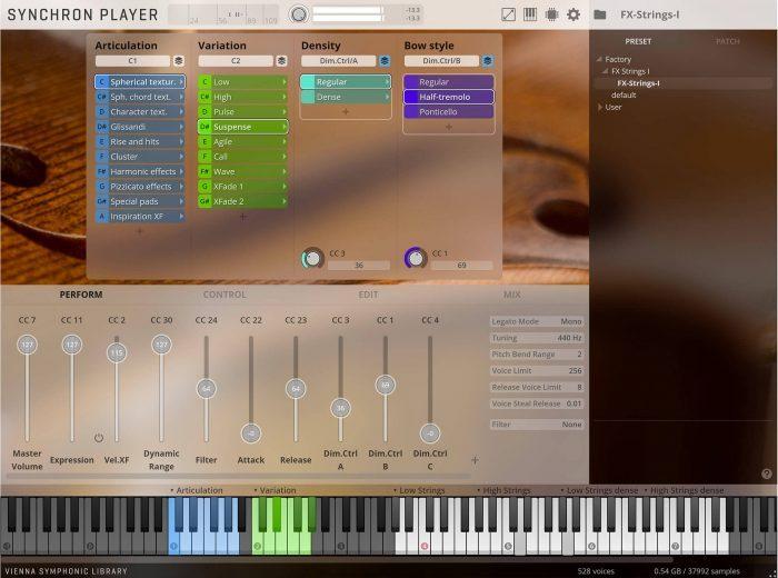 VSL Synchron FX Strings I