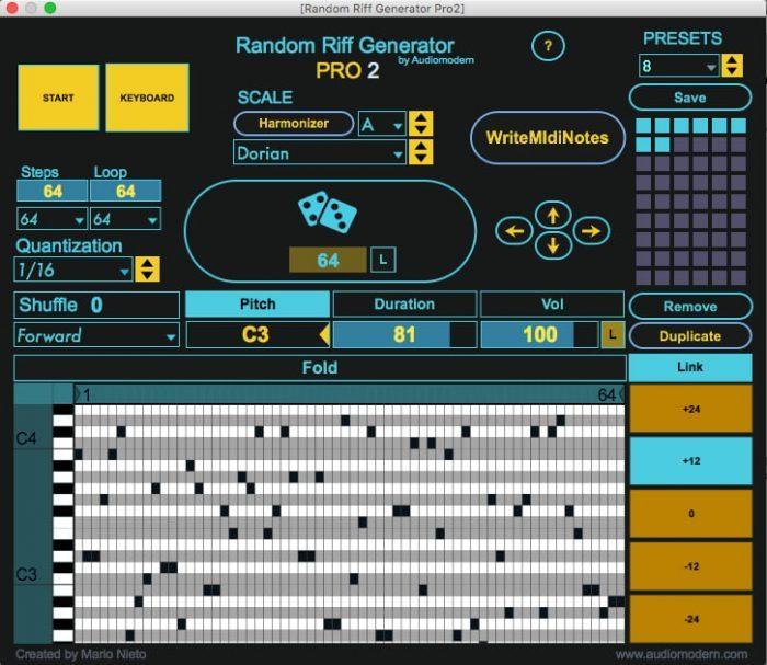 Audiomodern Random Riff Generator PRO 2