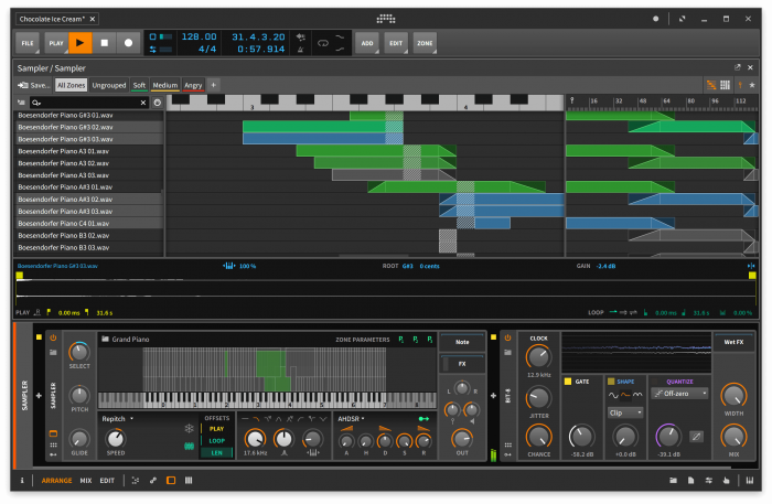 Bitwig Studio 2.4 Multi Sample View