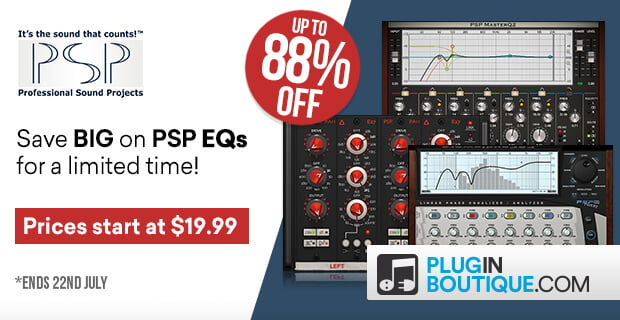 PSP EQs Sale up to 88 off PluginBoutique