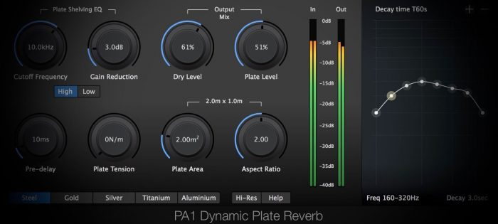 Physical Audio PA1 Dynamic Plate Reverb 2