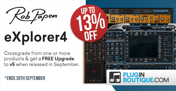 Rob Papen eXplorer 4 upgrade sale