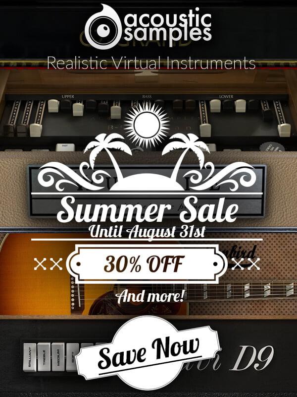 Acousticsamples Summer Sale 2018