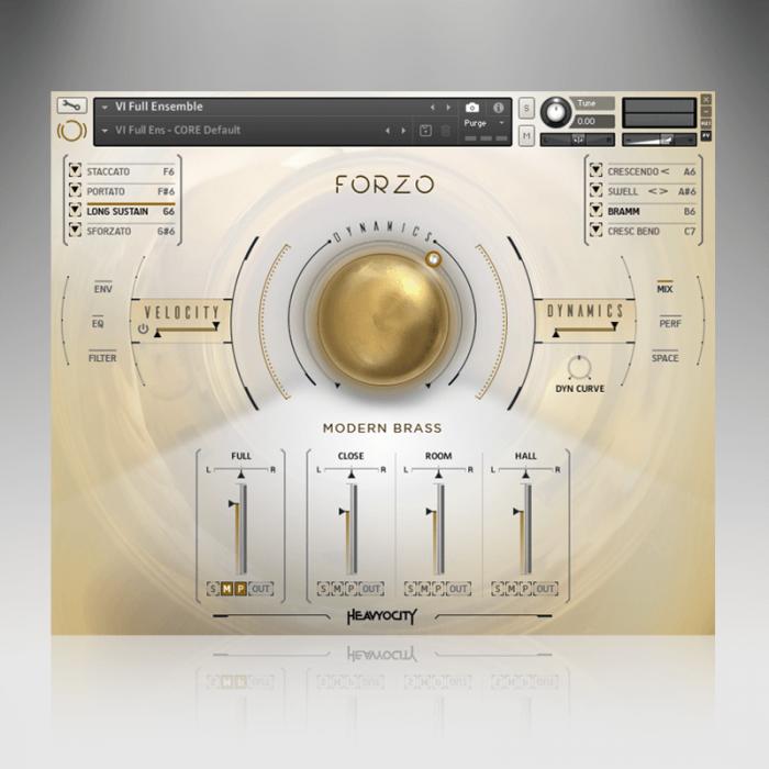 Heavyocity Forzo Modern Brass screen