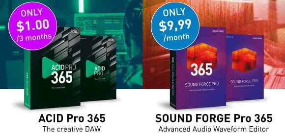 Magix ACID Pro & Sound Forge Deals