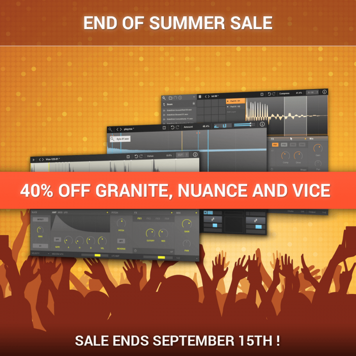 New Sonic Arts End of Summer Sale