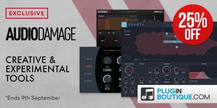 Save 25% off Audio Damage plugins