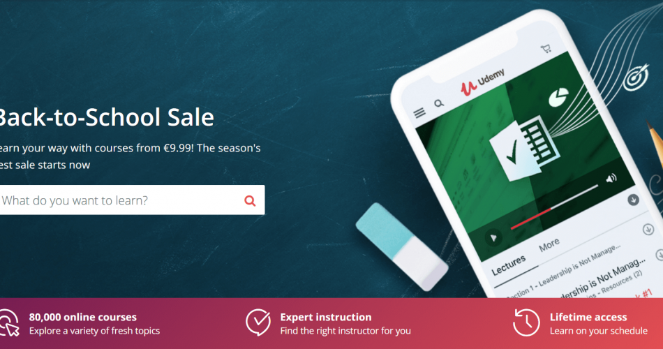 Udemy Back to School Sale