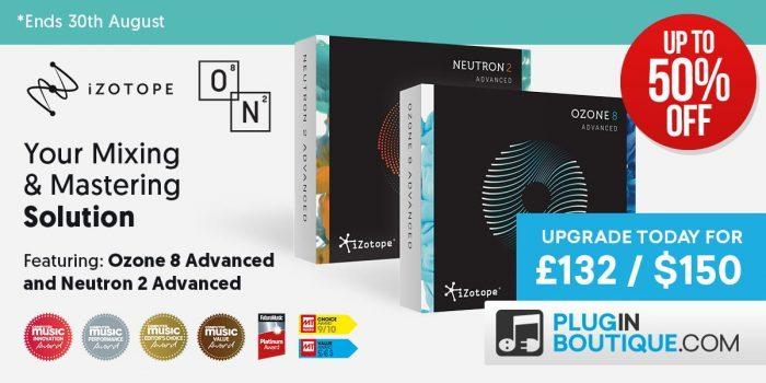 iZotope Ozone 8, Neutron 2 & Music Production Suite up to 50