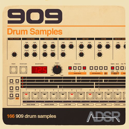 ADSR 909 Drum Samples