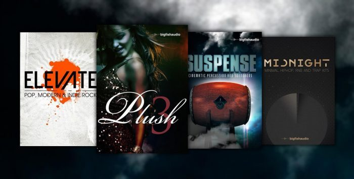 Big Fish Audio Weekly Deals Plush 3, Midnight, Elevate & Suspense