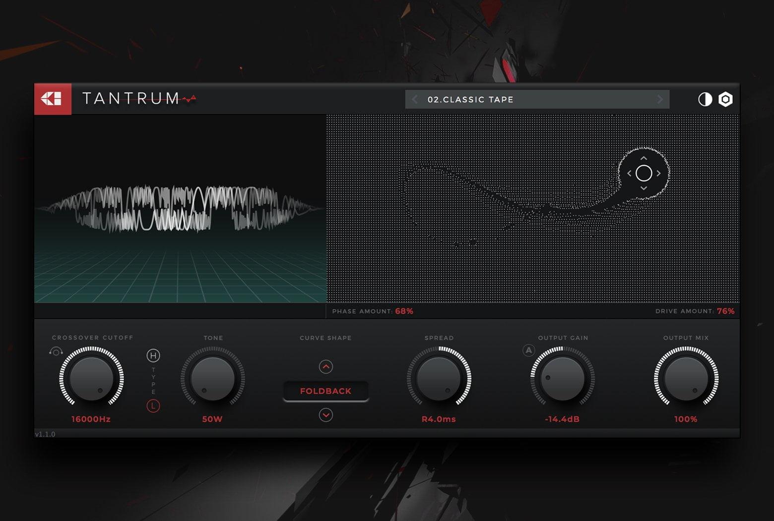 Creative Intent updates Tantrum distortion plugin to v1 1 1