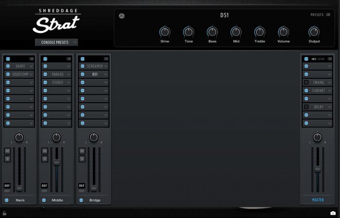 Impact Soundworks Shreddage Strat Kontakt console presets