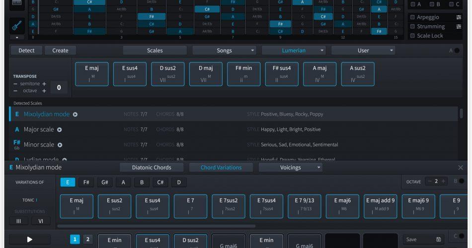 Plugin Boutique Scaler 1.5 GUI dark 2