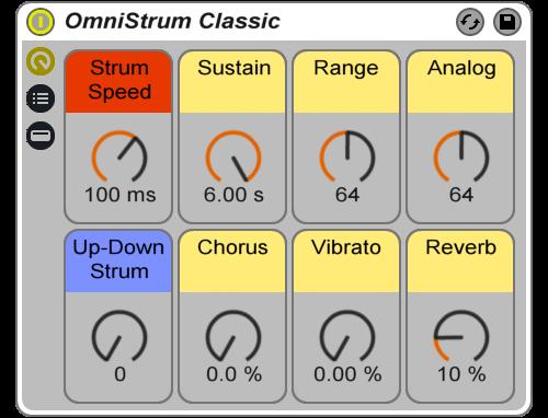 Reverb Machine Omnichord Strum Rack Ableton