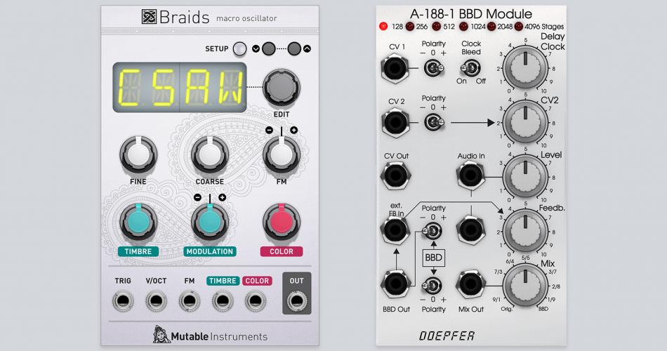 Softube Mutable Instruments Braids & Doepfer A 188 1 BBD