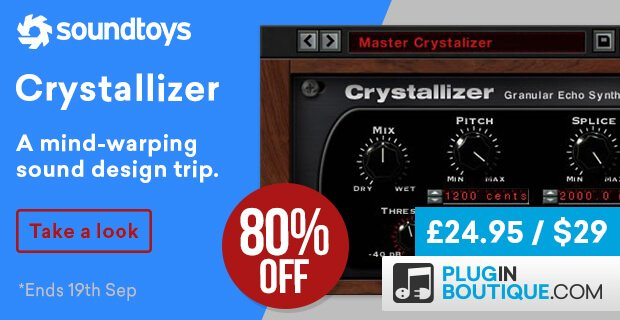 Soundtoys Crystallizer 80 off