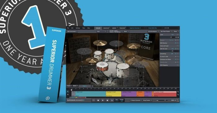 Toontrack Superior Drummer 3 anniversary sale