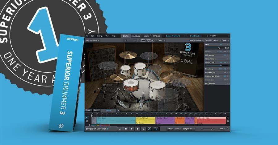 Toontrack Superior Drummer 3 anniversary sale