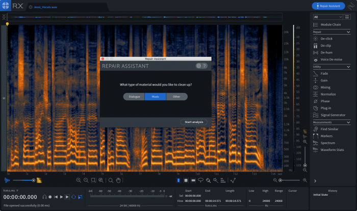 iZotope RX 7 Elements Repair Assistant