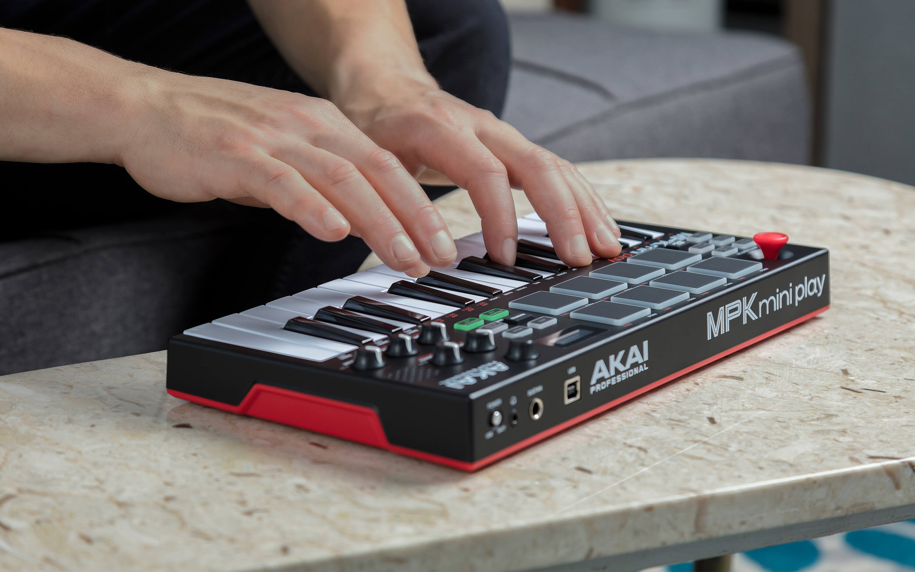 akai professional launches mpk mini play midi controller with built in sounds
