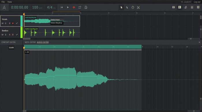Amped Studio 2.0 Audio Editor Note Detection