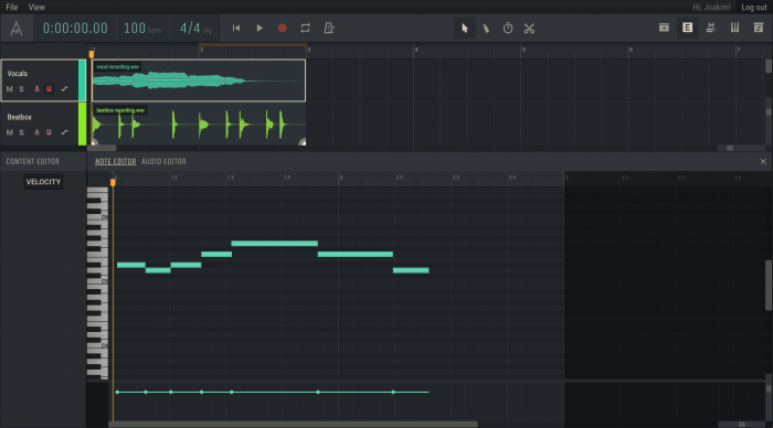 Amped Studio 2.0 Note Editor