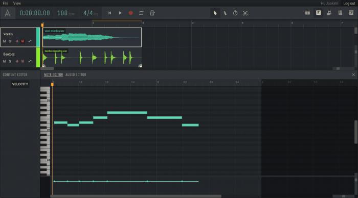 Amped Studio 2.0 Note Editor
