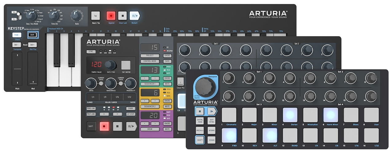 arturia reissues black edition beatstep  beatstep pro