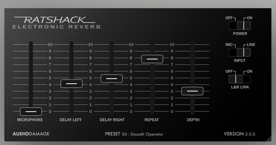 Audio Damage Ratshack Reverb 3 plugin