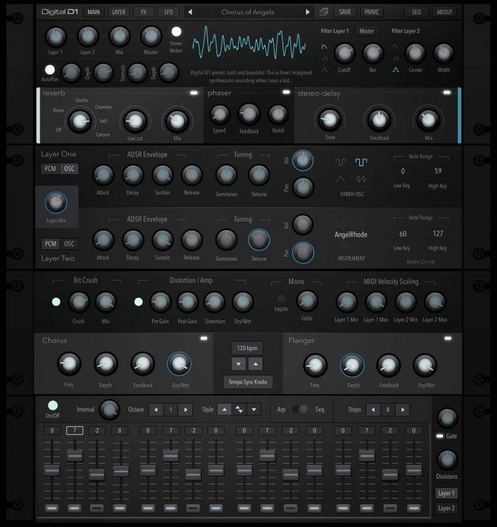 AudioKit Digital D1 Rack Graphic